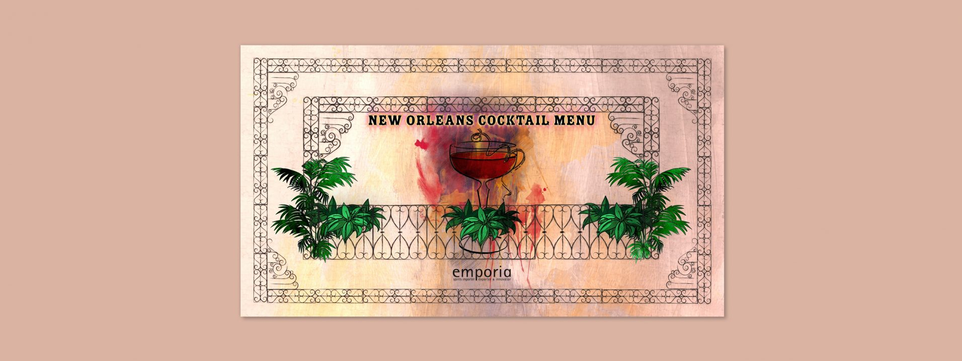 Emporia Brands - vieux carre Cocktail Menu designed by Dephined