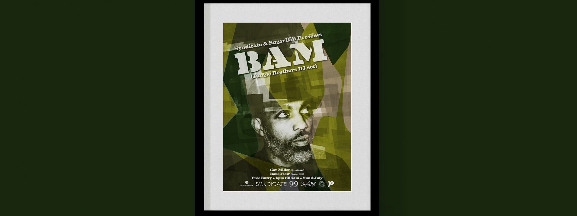 99 Hanover Street - BAM, Jungle Brothers poster designed by Dephined
