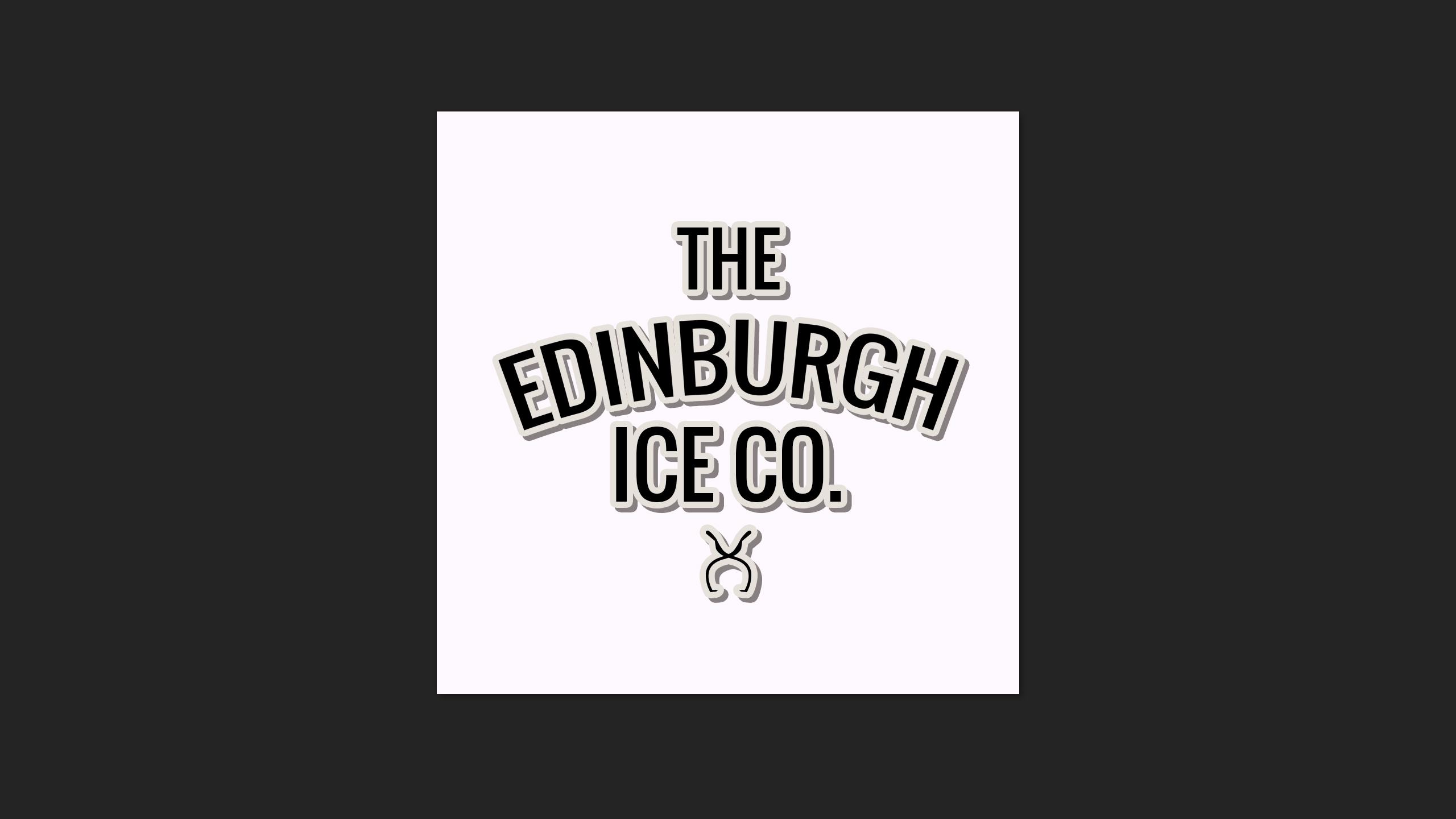 Branding design Created for the Edinburgh Ice Co.