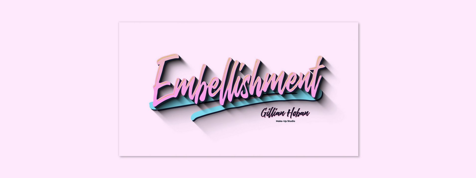 Embellishment logo created for Gillian Hoban Make-Up Studio