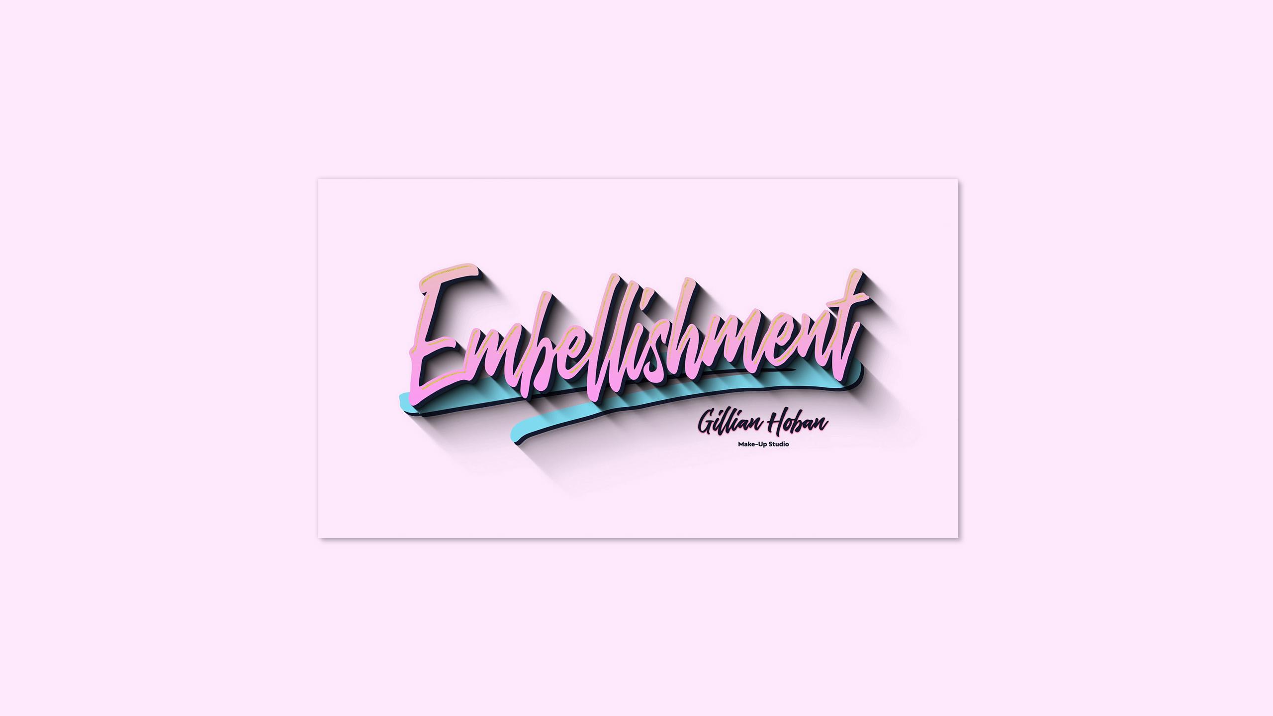 Embellishment logo created for Gillian Hoban Make-Up Studio